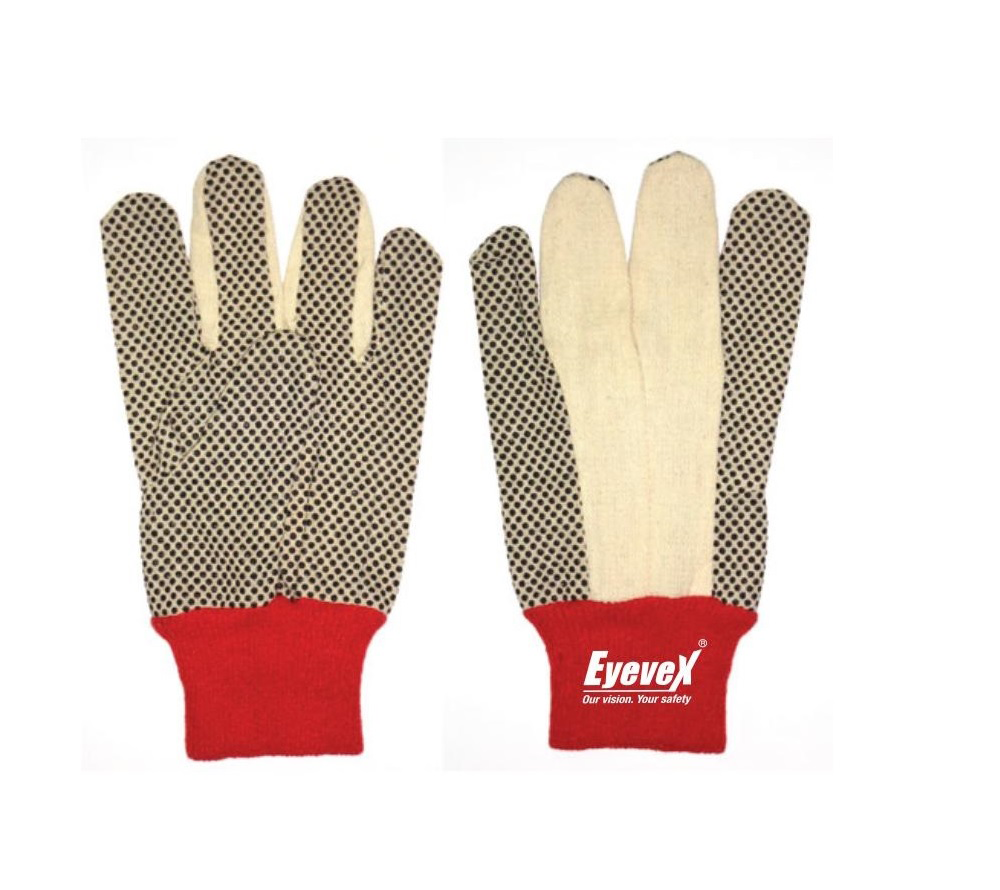Picture of Eyevex Hand Protection PVC Dotted Gloves 8oz, 12oz